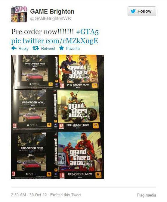 GTA V Spring Release Date Confirmed by European Mega-Chain