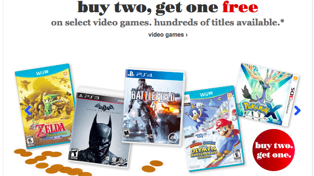 Buy 2, Get 1 Free Games, Including PS4 at Amazon, Target, Toys R Us