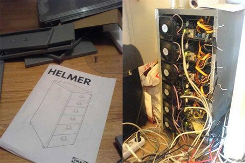 DIY Filing Cabinet Linux Server Cluster