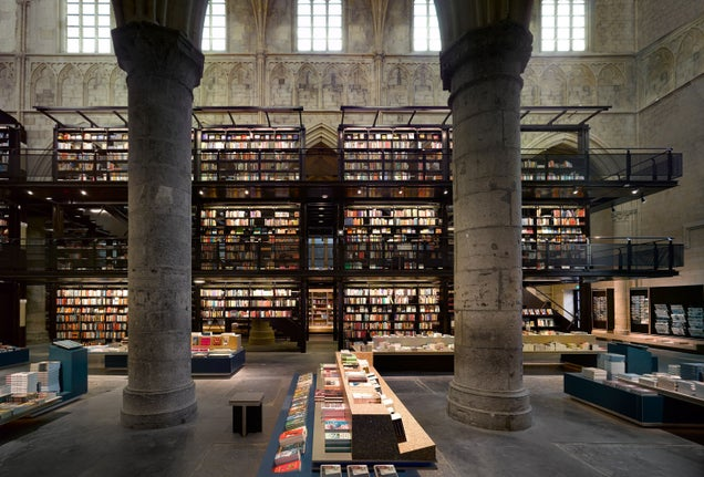 These Grand Cathedrals Now House Regular Books, Not Bibles