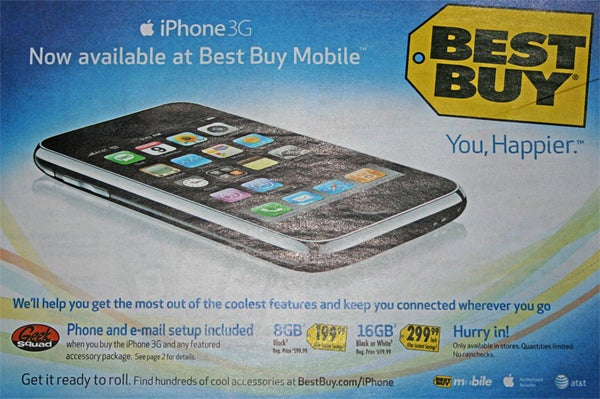Best Buy iPhone 3G: Buy BS Accessory Package, Geek Squad Will Do What Apple Store Does for Free