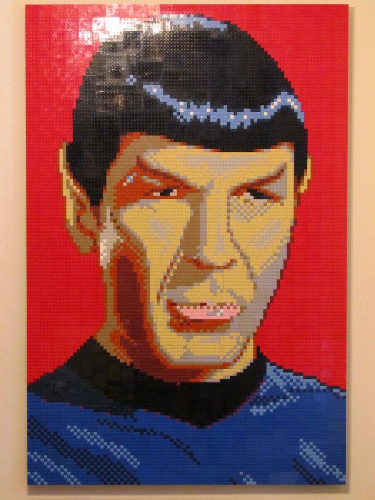 Mr. Spock, depicted in 13,824 LEGOs