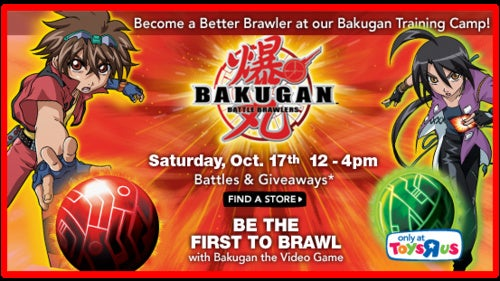 Bakugan Training Camp Invades Toys R Us