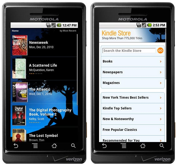Kindle's Android App Now Has Newspaper and Magazines for Downloading