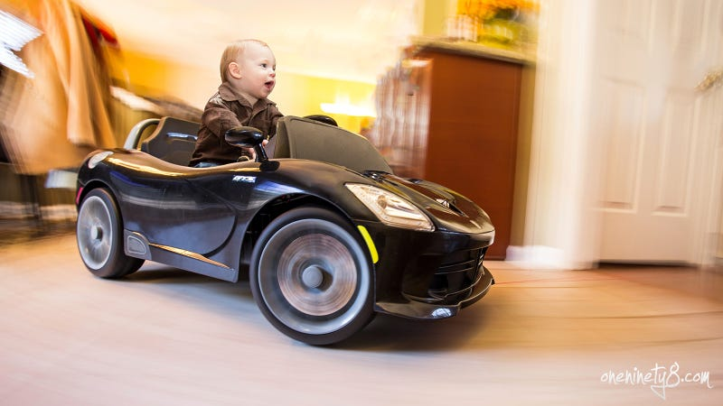 Here Is The Best Picture Of A Child In A Power Wheels Ever