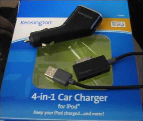 Kensington 4-in-1 iPod Car Charger: A Pictorial Review