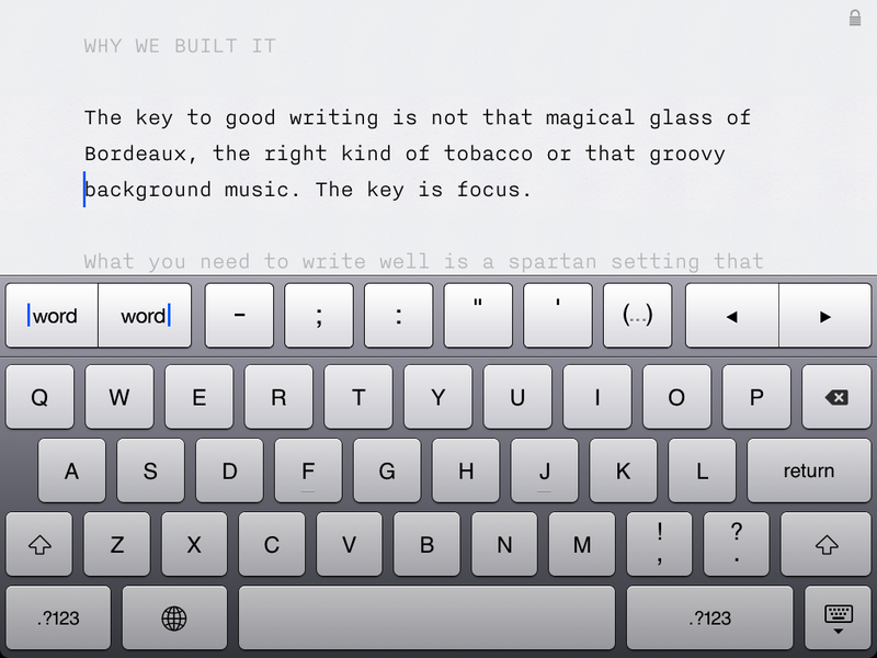 Information Architects' Writer, Or Building the Perfect iPad Writing App