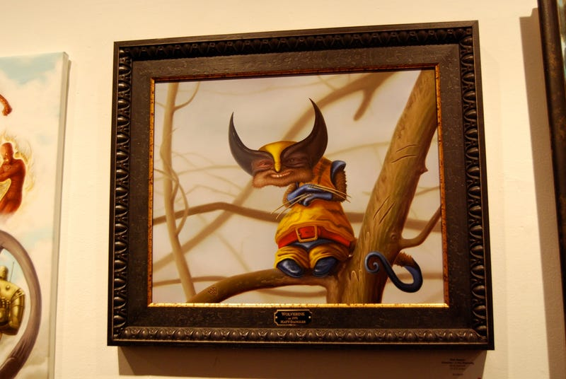 Trippy Re-Interpretations of Stan Lee's Comic Book Characters at Art Show