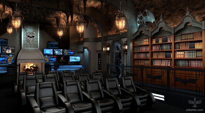 Batcave-inspired home theater would fit right in at Wayne Manor