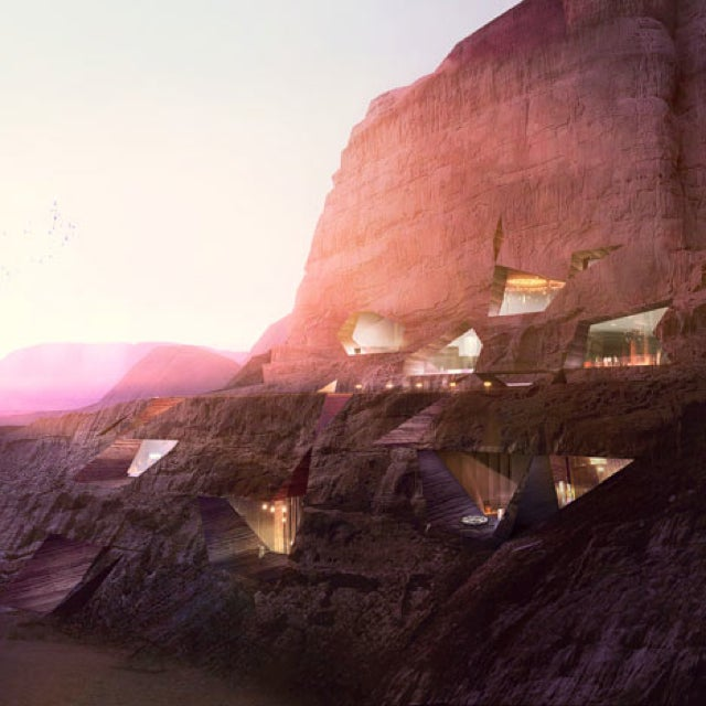 This Desert Resort Would Literally Be Carved Into the Side of a Mountain