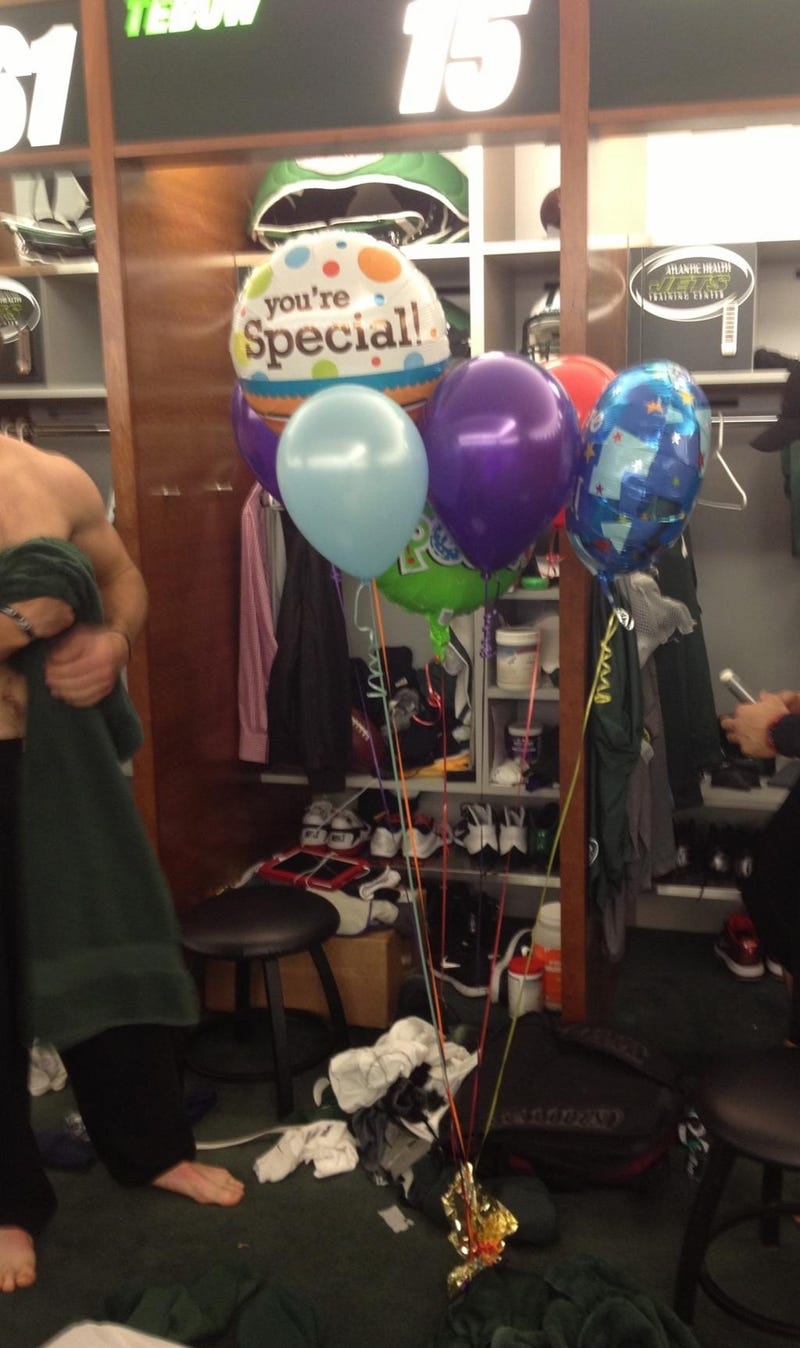 "Tim Tebow Received A ""You're Special"" Balloon Bouquet From An Anonymous Fan"