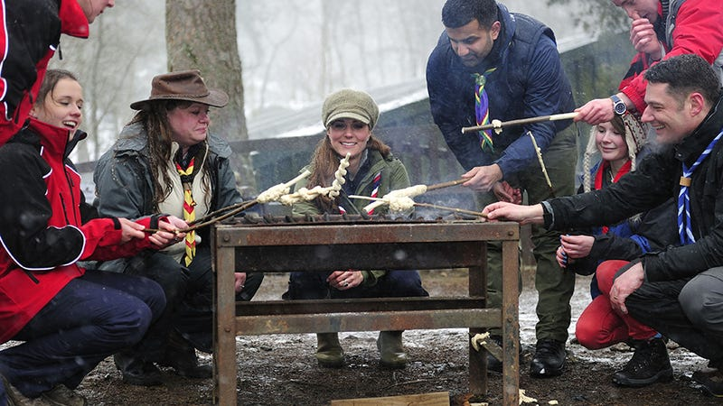 Kate Middleton Hangs With Cub Scouts, Roasts Entrails Snacks Over Open Fire