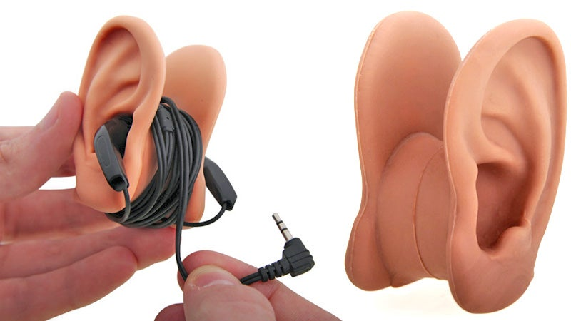 Where Better To Store Your Earbuds Than On a Pair Of Ears?