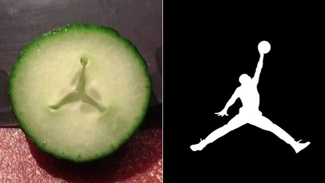 A Thanksgiving Miracle: Air Jordan Logo Appears Inside Cucumber