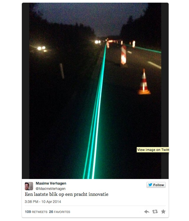 In The Netherlands, There Are Now Glow-in-the-Dark Roads