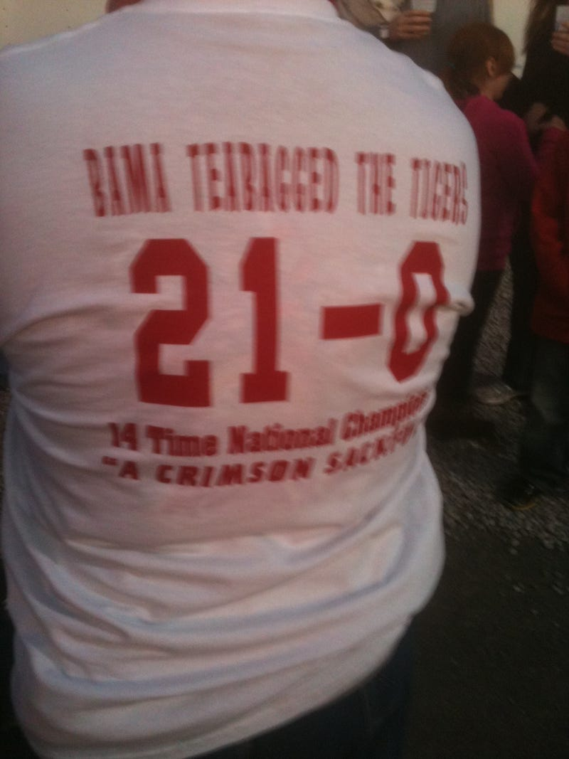 "Alabama Fans Proudly Displaying Their Teabagging Pride On Shirts: ""Bama Teabagged The Tigers"""