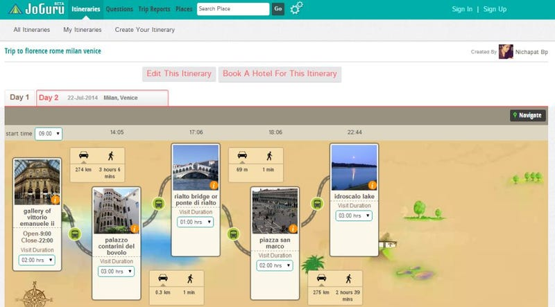 Joguru Creates Itineraries Recommended by Travellers & Locals
