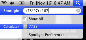 Calculate with Spotlight