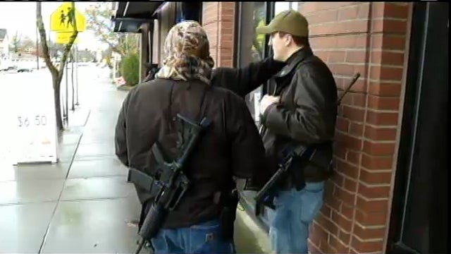 Armed Men Roaming Streets of Portland Claim They Are Trying to 'Educate the Public'