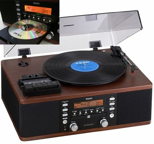Teac's LP-R500 CD-Equipped Record Player Fell Through Ugly Timewarp