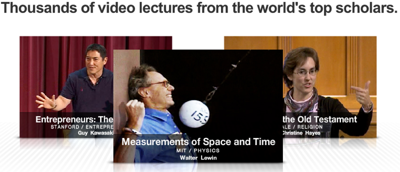 Academic Earth Aggregates Lectures from MIT, Harvard, Yale, and Others