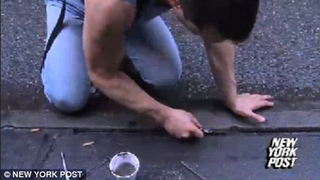 Man mines diamonds from New York City sidewalks