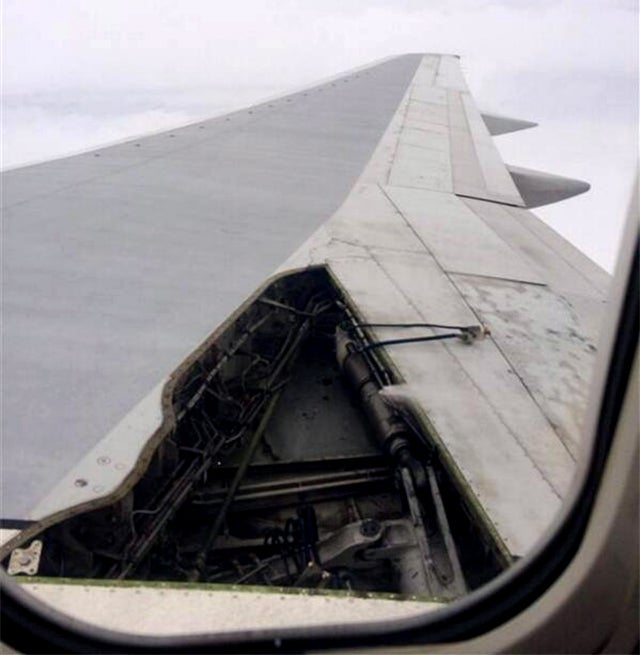 Huge part of a Delta airliner's wing breaks off at takeoff