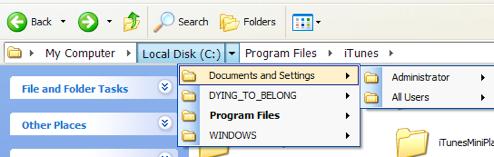 QTAddressBar Brings Vista Explorer's Address Bar to XP