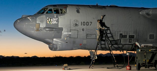 U S Air Force Serial Number 61 0007 A B 52h Known By Its Nose Art As Ghost Rider Was Brought Out Of Seven Years Storage At The Defense Department