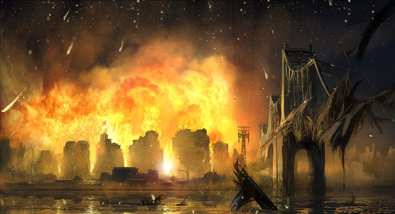Astounding Concept Art of Cities Being Demolished