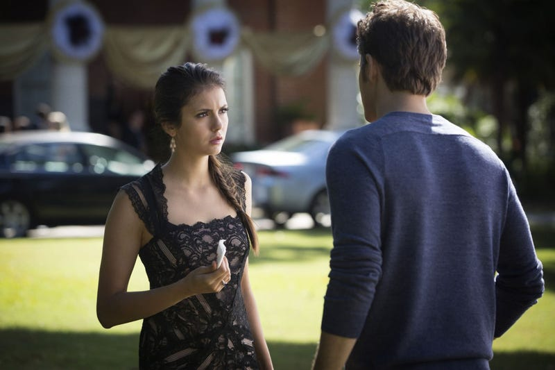 "At this point, Vampire Diaries is practically spoofing the ""girl caught in the middle"" trope"
