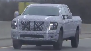 2016 Nissan Titan Spied With A 'Range Rover Style' Premium Face
