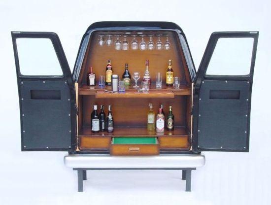 Wood Panel Van Liquor Cabinet: Why Not?