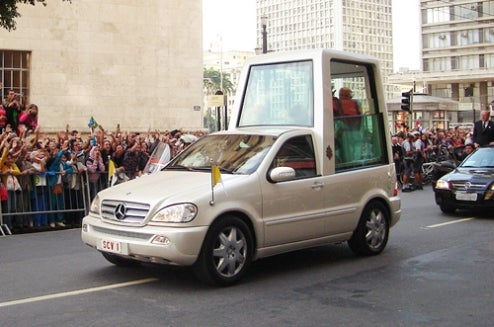 The Evolution Of The Popemobile