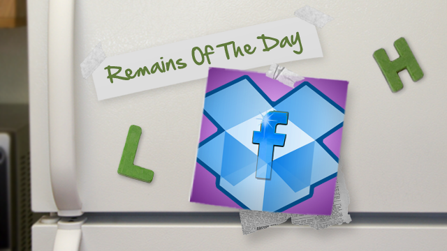 Remains of the Day: Dropbox Adds Facebook Integration for Shared Folders