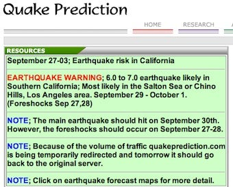 Fake California 'Earthquake Warning' Currently Scaring Idiots on Twitter