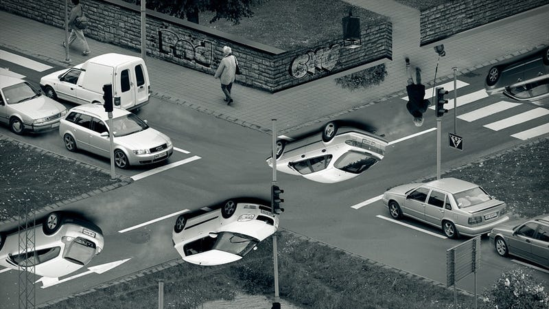 Who Needs Headaches When You've Got Upside-Down Traffic?