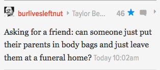 Comment of the Morning