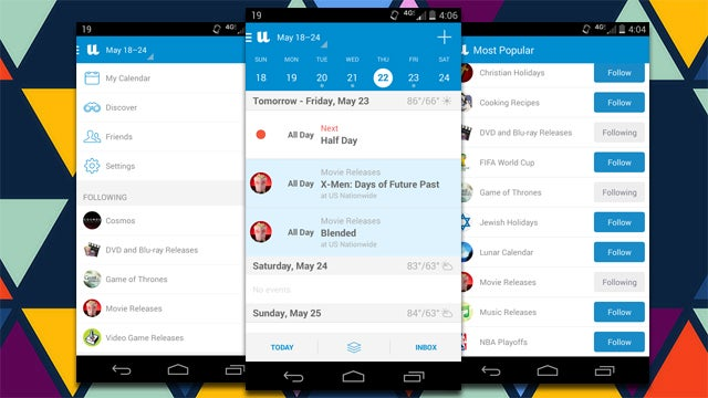 UpTo Combines Your Google Calendar with Secondary Events to Follow