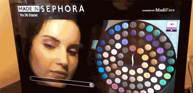 An Augmented Reality Mirror Lets You Test Makeup Without Putting It On
