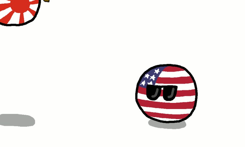 Daily Polandball: The Pacific Front in WWII, in .gif form.