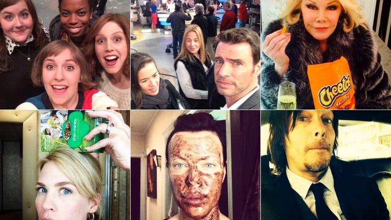 Selfie Loathing: January Jones Balances Girl Scout Cookies on Her Head
