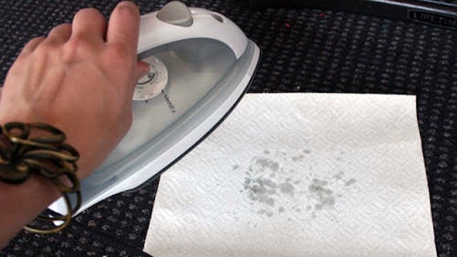 how to clean an iron with wax paper
