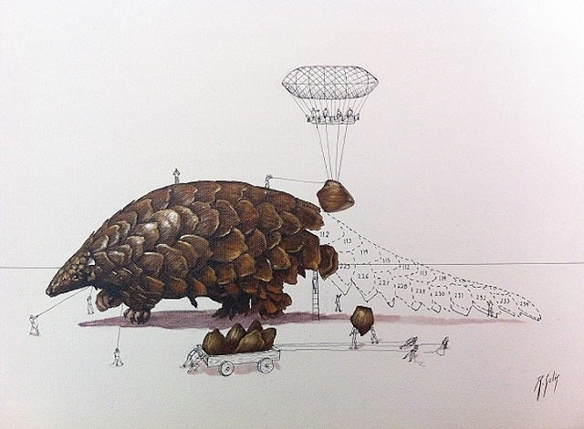 Artist Imagines the Tiny People Who Make Animals Possible