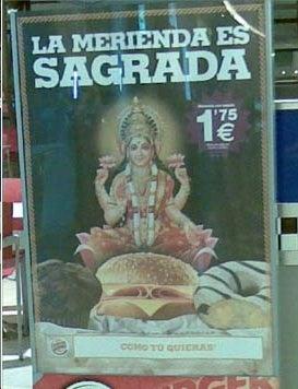 Burger King Will Regret Posing Hindu Goddess on Ham Sandwich