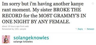 """Solange Has """"Kanye Moment"""" About Big Sis Beyoncé On Twitter"""