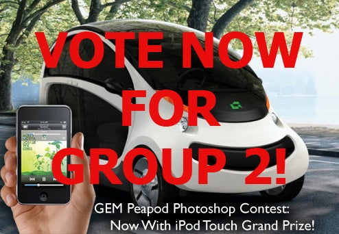 GEM Peapod Photoshop Contest, Rock The Vote: Round One, Group Two