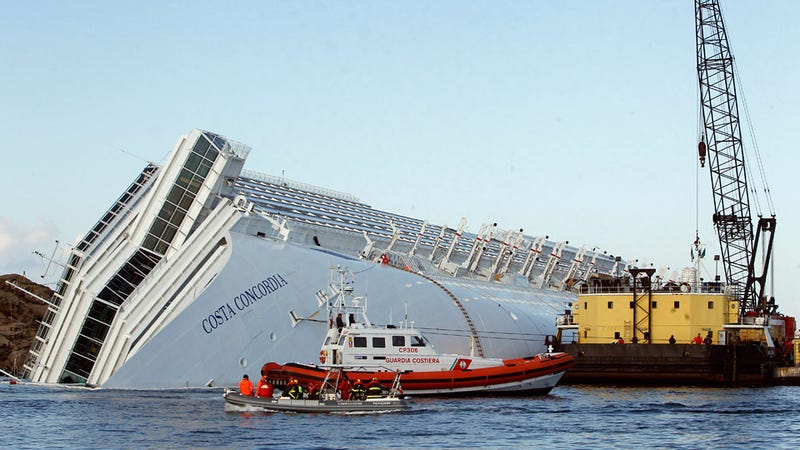 Giant Airbags Will Be Used To Float the Costa Concordia Back To Port
