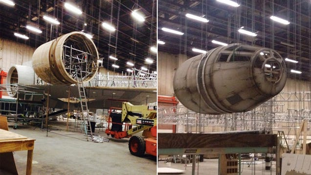 Leaked Star Wars Episode 7 photos show the Millennium Falcon's return