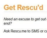 Rescu.me Calls or Texts Your Phone for a Pre-Scheduled Escape Interruption
